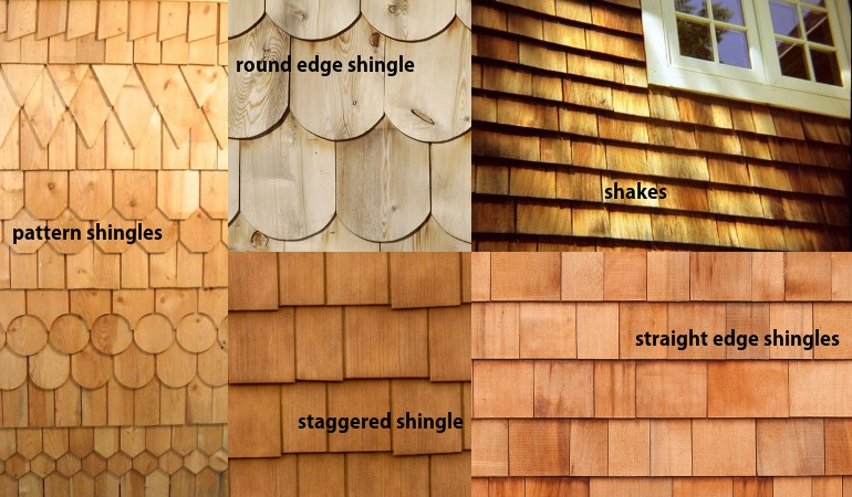Cedar Siding Types