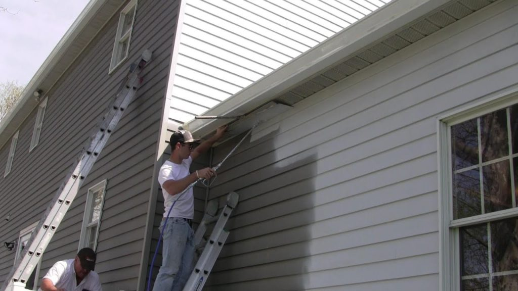 Cost to install aluminum siding breakdown per sq ft - How to clean house exterior before painting ...
