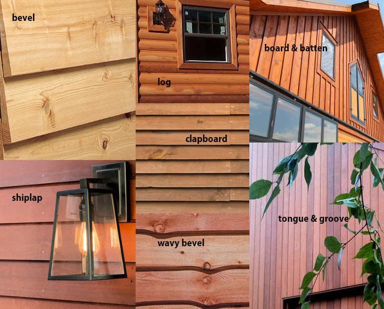 Styles of Cedar Siding