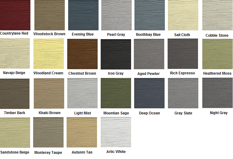 James Hardie Paint Colors