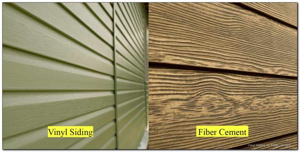 Vinyl vs Fiber Cement Wood Texture Appearance