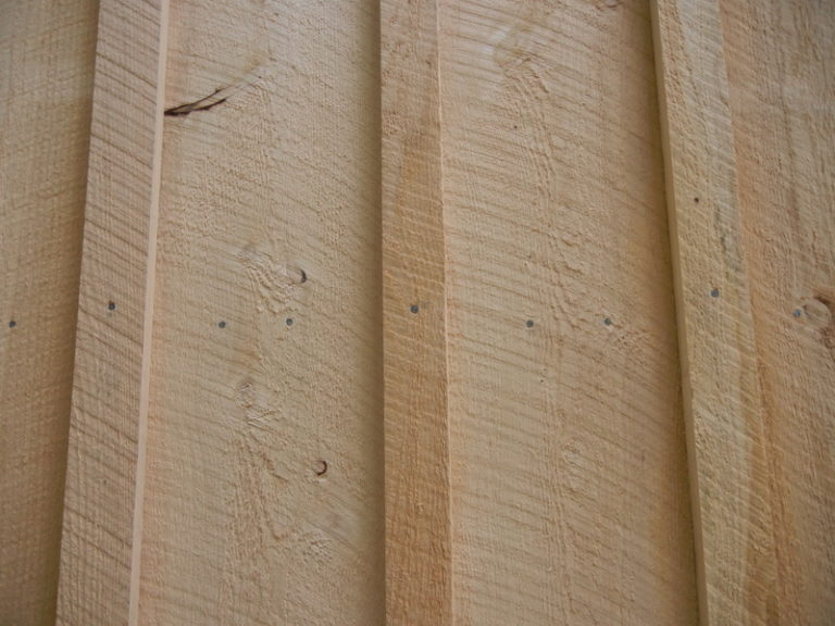 Board and Batten Siding Close Up View