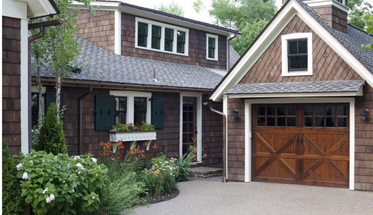 Shingle Wood Siding on a House