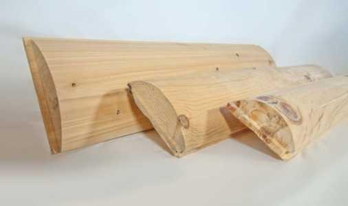 Split Log Siding Profile View
