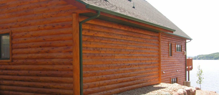 Split Log Siding on a House