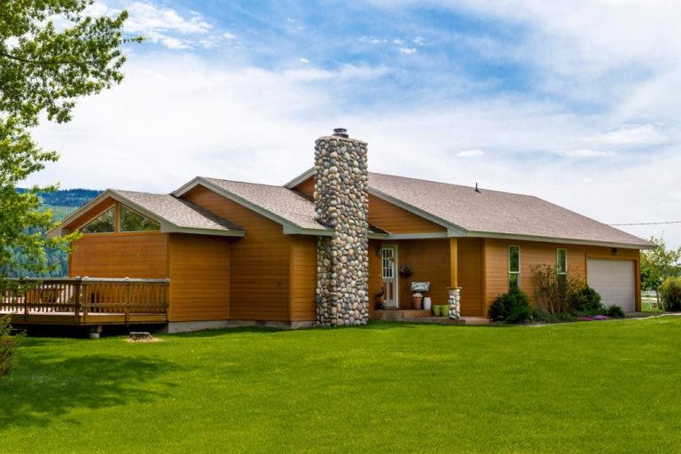 Spruce Siding on a House
